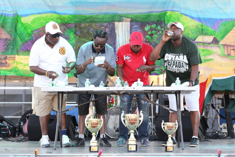 Guyana Ex-Police Association-Eating Competition