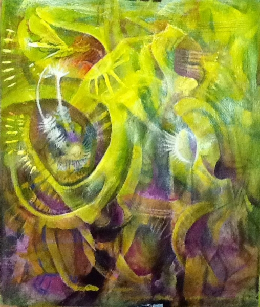 Tropical forest series. Acrylic on paper - Photograph provided by George Simon