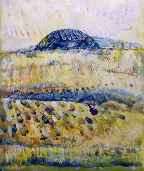 Shea Rock. Acrylic on paper - Photograph provided by George Simon