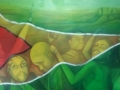 """Integration"" Oil on canvas 6ft x 4ft - Photograph provided by George Simon"